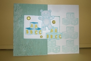 baby boy shower card front