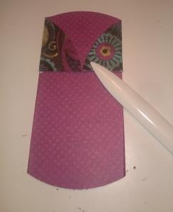 double pocket card cuts folded back
