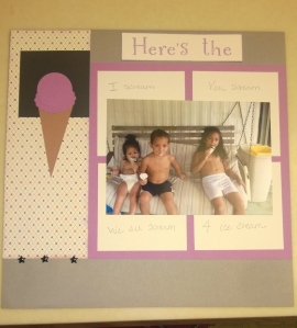 ice cream layout left side
