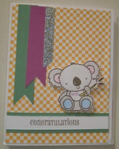 confetti wishes koala baby card