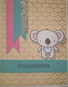 yuletide koala baby boy card